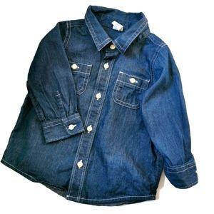 Baby Gap Girls' Denim Shirt 12-18m